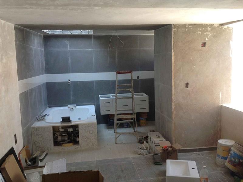 Terminación de trabajos de Albañileria