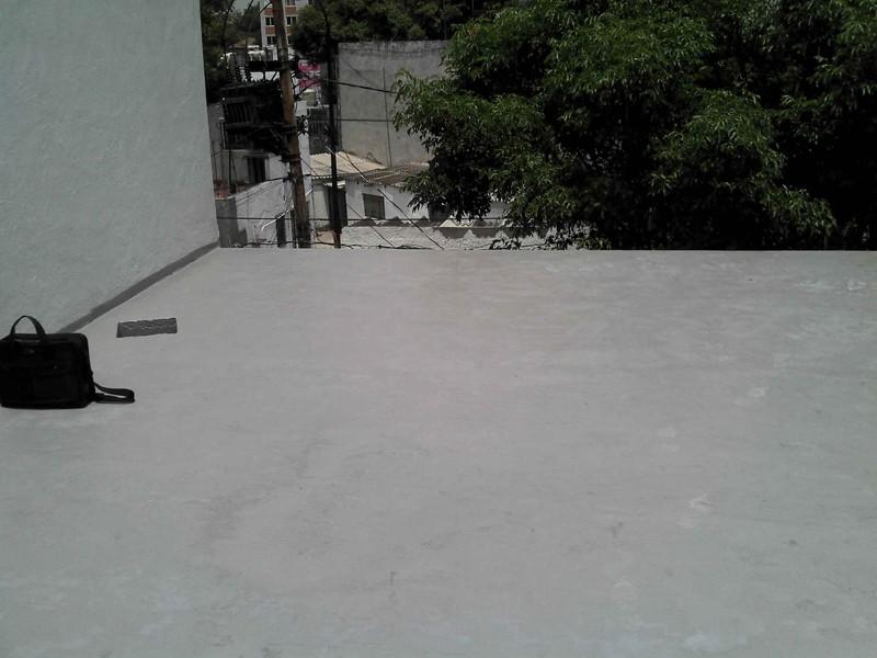 Piso de cemento en Azotea